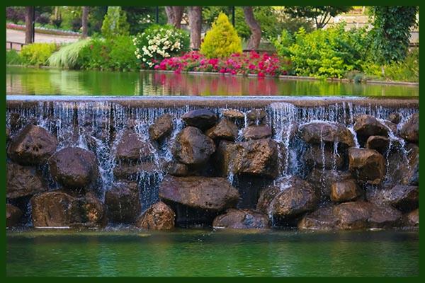 Wasserfall Gartenbrunnen